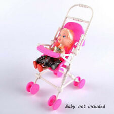 Assembly Baby Buggy Stroller Dollhouse Nursery Furniture Toy For Barbie Doll New