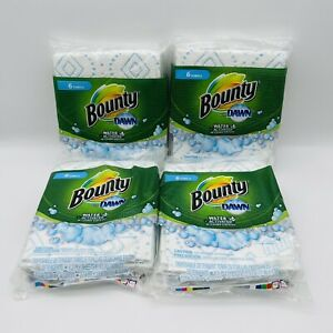 4packs BOUNTY DAWN WATER ACTIVATED DISPOSABLE DETERGENT TOWELS