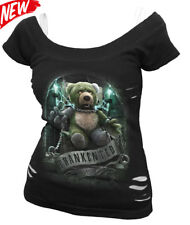 SPIRAL DIRECT FRANKENTED 2in1 Ripped/Goth/Cute/Teddy bear/Xmas Gift/Funny/Top