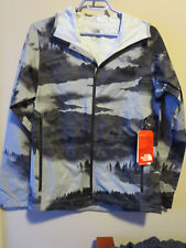 Mens New North Face Stormy Trail Jacket Sz Small Color Monument Grey Fog Print