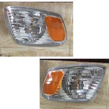 2X Car Front Left+Right Corner Light Lamp Frame Refit For Toyota Corolla 2001-02