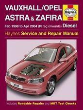 Vauxhall/Opel Astra & Zafira Diesel (Feb 98 - Apr 04) Haynes Repair Manual