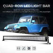 Quad ROW 42inch 2400W CREE LED Work Light Bar Offroad UTE Pickup Lamp SUV 4WD 50