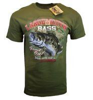 Fishing T Shirt Mens Tee M L XL XXL Largemouth Bass Graphic American Outdoor NEW