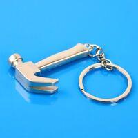 Mini Portable Hammer Pendant Metal Key Chain Ring Keyring Keychain Cute Gifts