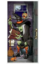Witch Restroom Door Cover Bathroom Halloween Decor 5Ft Party Prop Scene Setter