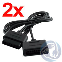 Lot 2x Controller Extension Cable for Original Super Nintendo SNES Game Pad 6 ft