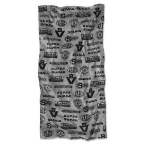 Official Scania Truck V8 design Logo Cotton Black bath towel 140 x 70cm New