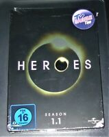 HEROES SEASON 1.1  GEPRÄGTE STEELBOOK EDITION DVD SCHNELLER VERSAND NEU & OVP