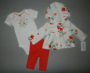 NWT, Baby girl clothes, Preemie, Carter's Cardigan Set/   ~SEE DETAILS ON SIZE~~