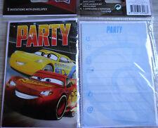 5 Einladungskarten inkl.Umschläge--Disney Cars 3-- Party--Kinder Geburtstag--(5)