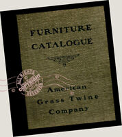 American Grass Twine Co 1903 Furniture CATALOG wicker chairs rattan Craftsman