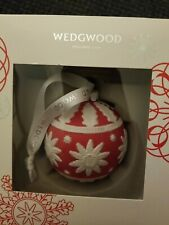 2015 Wedgwood Neoclassical Ball Red Porcelain Christmas New In The Box