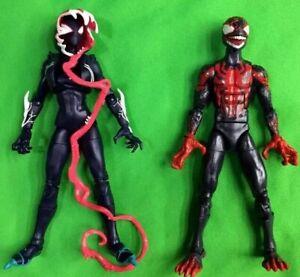 "Marvel Legends Venomized MILES MORALES + GHOST-SPIDER Gwen Stacy 6"" Gwenom lot"
