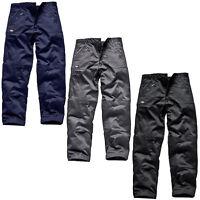 DICKIES Schwarz Aktion Schwerlast Arbeitskleidung Combat Hosen 30-44 Viele
