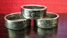 Walking Liberty Half Dollar Coin Ring U Pick Size Artisan Handcrafted 90% Silver