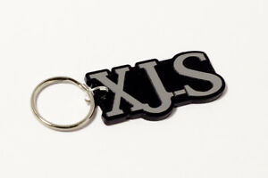 Jaguar XJS Keyring - Brushed Chrome Effect Classic Car Keytag / Keyfob