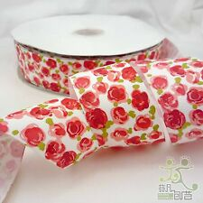"1.5""38mm Red Rose Grosgrain Ribbon Hairbow Craft 5 Yard"