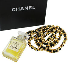 CHANEL Perfume Chain Necklace Eau De Parfum No5 France Vintage Authentic #K337 M