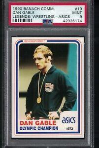 TOUGH #19 1990 Banach Communication DAN GABLE Olympic Champ Wrestling Card PSA 9