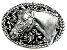 Horse Head Belt Buckle American Western Themed Authentic C & J Buckles Product