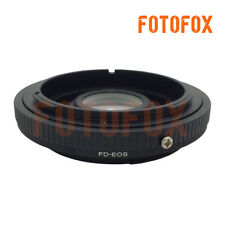 FD-EOS Canon FD Mount Lens to Canon EOS EF with Glass Adapter focus to infinity