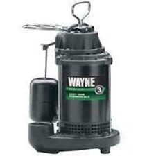 NEW WAYNE CDU800 SUBMERSIBLE CAST IRON USA MADE 1/2 HP WATER SUMP PUMP & SWITCH