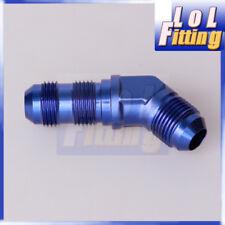 AN-3 AN3 3 AN 45 Degree Bulkhead Fitting Adapter Aluminum Blue