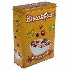 Metalldose Breakfast Nostalgie Retro Müslidose Dose Keksdose Gebäckdose