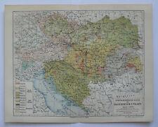 Ethnographische Karte von Österreich-Ungarn historische Landkarte um Jahr 1890