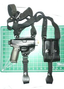 Tagua SH4-1150 RH Leather Shoulder Holster Dual Mag Pouch Kahr P9 P40 CW9 CW40