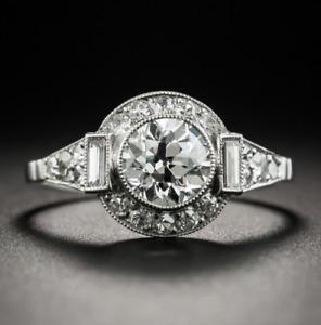 Fashion 925 Silver Round Sun Design White Topaz Jewelry Wedding Engagement Ring!