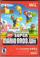 New Super Mario Bros. Wii [Nintendo Wii, Red Case, Platformer Luigi Yoshi] NEW
