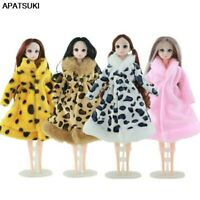 """Winter Leopard Fur Coat Fashion Outfits For 11.5"""" Doll Clothes Toys For Children"""