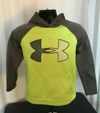 UNDER ARMOUR Green & Gray Poplyester Hoodie Large Youth