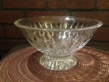 """Mikasa Meridian 10"""" Footed Crystal Bowl  'New with sticker - no box'"""