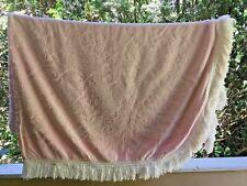 "Pink Sz King Vintage Chenille Bedspread w/Fringe~Beautiful design~104"" X 88"""