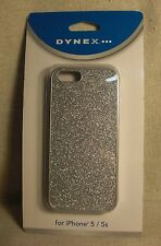 Dynex DX-MA5DB23 Silver Glitter, Polycarbonate/Polyurethe Case for iPhone 5/ 5S