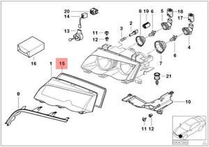 Genuine Headlight Sealing Gasket BMW M3 E46 316Ci 316i 1.6 1.9 63128380210