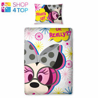 MINNIE MOUSE POPS SINGLE PANEL DUVET COVER AND PILLOWCASE SET BEDDING GIRLS KIDS