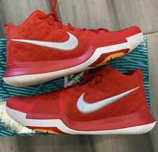 Nike Kyrie 3 Suede Men's 852395-601 University Red Grey Basketball Size 13