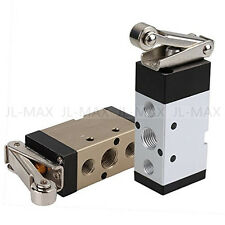"""PT1/4"""" 2 Position 5 Way Pneumatic Solenoid Mechanical Valve for Small Cylinders"""