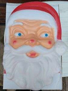 Christmas Santa face Blow mold Christmas light Collectable Decoration. 60cm