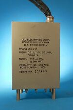 DEL ELECTRONICS DC POWER SUPPLY 2.5-2-6A  0-2.5K VDC OUT 115/125V 50/60HZ IN
