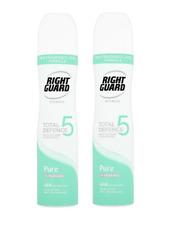 2-pack Right Guard Spray Antiperspirant Deodorant (Women) PURE 250ml Uncented