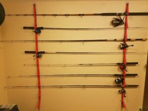 CK 9 Fishing Rod Overhead Or Wall Fishing Rod Rack