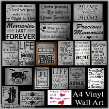 Wall Stickers - Modern Home Art - High Quality Vinyl Decor LIFE Quotes & MORE