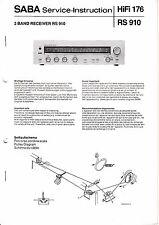 Service Manual-Anleitung für Saba RS 910