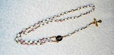Handmade 6mm clay or porcelain rosary with hand painted roses on the beads