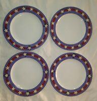 """4X - Sakura Brandon House Spirit of the Flag Warren Kimble 10"""" Dinner Plates"""